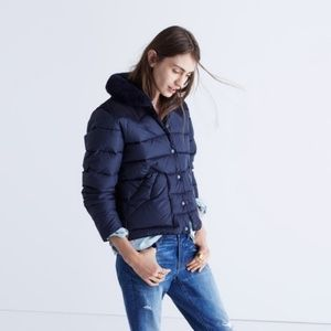 Penfield Rockwool Navy Down and Shearling Jacket